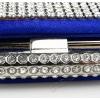 Коктейлна чанта син сатен