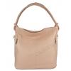 Чанта тип торба от естествена кожа