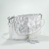 Бяла чанта от естествена кожа