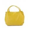 Малка кожена жълта чанта