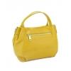 Малка жълта чанта от естествена кожа