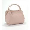 Кожена чанта бонбон в розов цвят