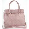 Дамска кожена чанта в розово