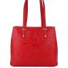 Червена кожена дамска чанта