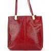 Чанта тип раница от естествена кожа в тъмночервено