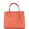 Дамска чанта от естествена кожа в цвят Корал