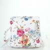 Малка кожена чанта с флорални мотиви
