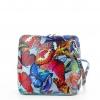 Чанта от естествена кожа на пеперуди