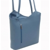 Синя кожена чанта