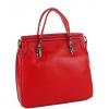 Дамска кожена чанта в червено