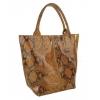 Дамска чанта от естествена кожа в кафяво