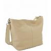 Дамска кожена чанта в цвят пудра