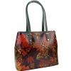 Кожена чанта с флорални мотиви