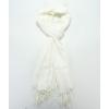 Бял дамски шал