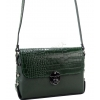 Малка дамска чанта в маслено зелен цвят