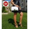Дамска бяла кожена чанта