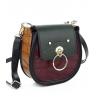 Еко кожа чанта с овална форма