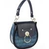 Дамска чанта с овална форма от еко кожа