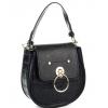 Чанта черен шагрен от еко кожа