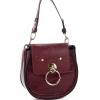 Чанта от еко кожа в цвят бордо