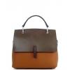 Двуцветна чанта от естествена кожа