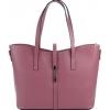 Кожена чанта във виолетов цвят