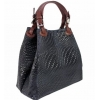 Черна чанта от естествена кожа
