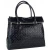 Дамска чанта от висококачествена естествена кожа в черно