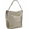 Дамска кожена чанта тип торба