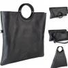 Черна кожена чанта 3 в 1