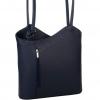 Дамска чанта-раница от естествена кожа в тъмно син цвят
