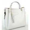 Дамска чанта от естествена кожа в бял цвят