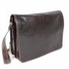 Кафява мъжка чанта с капак