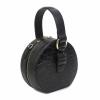 Черна малка кожена чанта