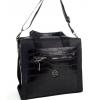 Дамска черна чанта еко кожа