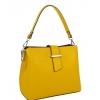 Жълта кожена чанта произведена в Италия