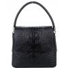 Дамска кожена чанта с капак