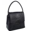 Черна дамска чанта с капак