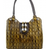 Крокодилска кожена чанта