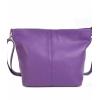 Мека лилава чанта