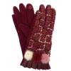 Дамски ръкавици с пухче и текстил