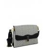 Дамска чанта от еко кожа и текстил