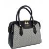 Дамска чанта от еко кожа и плат