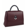 Дамска кожена чанта бордо