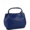 Турско синя кожена чанта