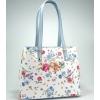 Дамска кожена чанта на цветя