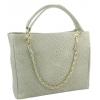 Дамска чанта от естествена кожа в цвят ванилия