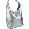 Сребърна чанта тип торба