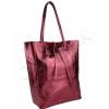 Чанта тип торба в бордо