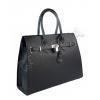 Черна кожена чанта CARISMA